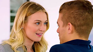 Young Blonde Student Vixen Improves Her Grades Via Fucking