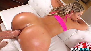 Big Blonde Ass Takes Cock Deep