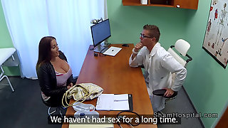 Natural Huge Tits Patient Seduces Doctor