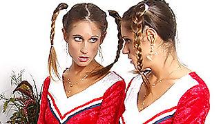 Hot Lesbian Scene With Twin Cheerleaders