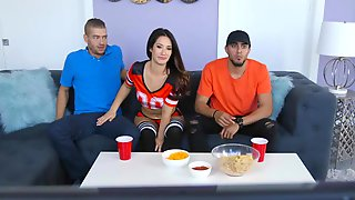 Sneaky Sex With Eva Lovia & Xander Corvus At Super Cup Ball
