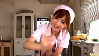 Asian nurse handjob