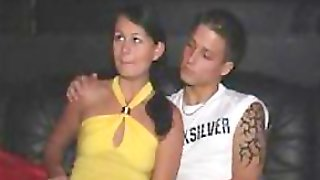Hot Brunette Teen Gets Fucked And Facialized At A Swingers Night Club