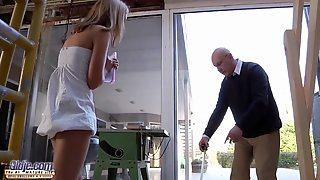 Nasty Young Girlfriend Pussy Fucked By Grandpa Romantic