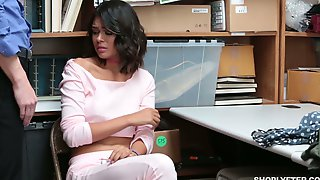 Fine And Sexy Caramel Skin Cutie In The Office Eats Dick And Bends Over