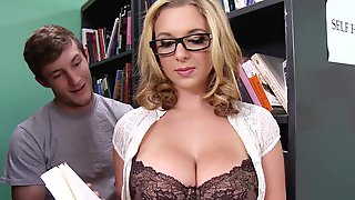 Milf With Glasses Craves For A Huge Dick