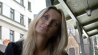 Real Czech Amateur Blonde With Blue Eyes Fucks For Quick Cash