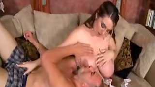 Hot Pregnant Babe Milking Boobs