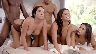 Hot Abella Karlee And Keisha Stretched Fucked Deep By Two BBCs