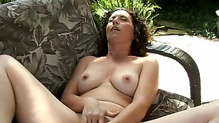 Curly Hair Milf Amateur Pumps Her Pussy With A Toy