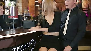 Barman And One Horny Guy Fuck Both Holes Of Lecherous Bitch Alexis Crystal