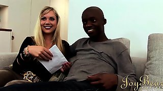 This Cute Blonde Cant Get Enough Of His Big Black Cock And