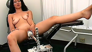 Slender Brunette Rayne Being Fucked By A Robot