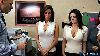 Photocopy Tits At The Office