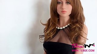 Real Life Sex Doll Brunette Beauty With Big Tits