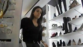 Shoe Shop Worker Upskirt