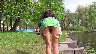 Relaxing Public Flashing Fun In The Park