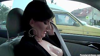 Handjob In The Car From Hottie