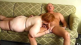 Old Couple Makes A Blowjob Video For Us
