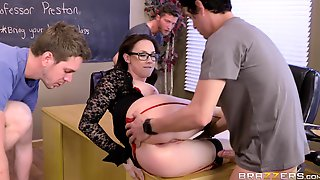 FMMM Foursome Orgy At Brazzers Free-For-All Fuck Lessons