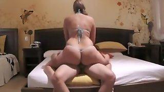Big Ass Woman Rides Her Mans Dick