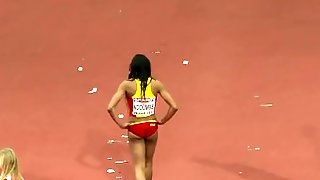 Oops! Moment Of A Female Triple Jumper