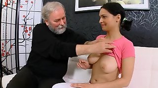 Dianas Bf Tricks Her Into Blowing & Fucking An Old Perv