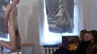 Russian Femdom High Heel Ballbusting & Foot Kicking Slave