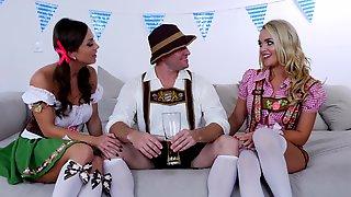 Fucking Two Sexy German Girls During Oktoberfest