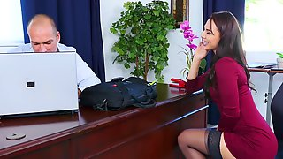 Aidra Fox Banged Hard For Promotion By Boss In The Office