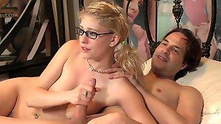Nerdy Blonde Slut Called Allie Gets Nailed Good In Bed