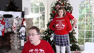 Gorgeous Teen Riley Mae Surprises Her Stepbrother With Christmas Fuck