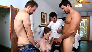Busty Bride Gets Nailed In Hardcore