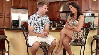 Milf Lezley Zen Takes Her Sons Friends Cock Deep