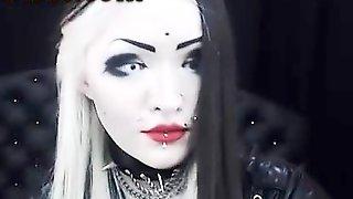 Russian Goth Webcam SLut Masturbating