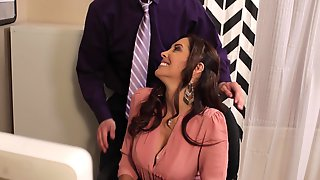 Francesca Le Sucks Off And Fucks The Boss In The Office For A New Job
