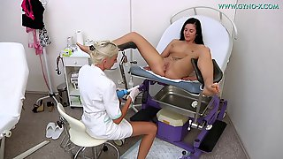 Lesbian Doctor And Teen Hottie Have Fun In Doctors Office