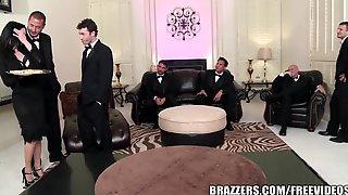 Brazzers - Veronica & Bonnie - 6 Male Orgy
