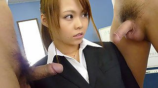 Saki In Former Porn Star Sakis Cover Is Blown So She Is Filled Up With Cum - AviDolz