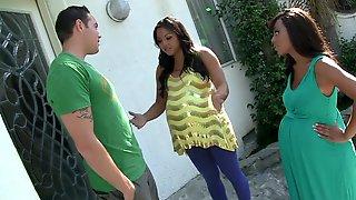 Fabulous Pornstars Leilani Leeanne And Adriana Luna In Exotic Creampie, Cumshots Adult Clip