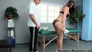 Massage Babe Doggystyled On Massage Table