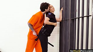 Big Tits Police Officer Isis Love Gets Banged In Jailcell
