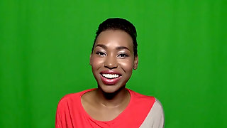 Short Haired Ugly Black Chick Ashton Devine Shows Off Cum Shot On Her Face