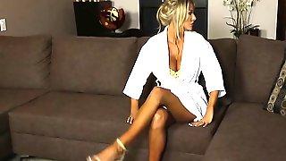 Big Tits Blonde MILF Getting Neighbors Big Dick In Pussy