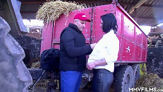 Dirty Cheap Village Whore Gets Mouthfucked By Farm Man Quite Hard