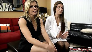 Big Tits Doctor Threesome And Cumshot