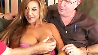 Magnificent And Busty Blonde Milf Wife Groped And Fed With A Dick