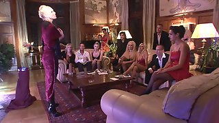 Luxurious MILFs In Amazing Lingerie In Group Sex Party