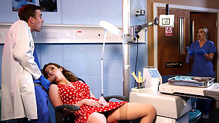 Kinky Doctor Bangs Slutty Redhead Wife In His Office
