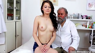 Petite Slovakian Teen Has Fun With Kinky Old Doctor